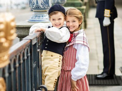 Royals don traditional costumes for Sweden's National Day, June 2020