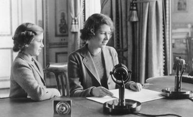 Princesses Elizabeth and Margaret on 13 October, 1940.