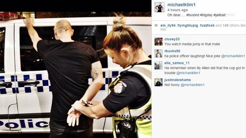 Retired swimmer Michael Klim posts fake arrest photo online
