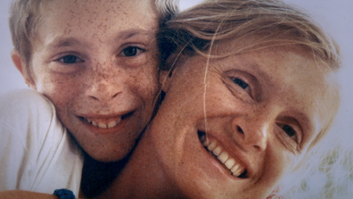 Sophie Toscan du Plantier and her son Pierre-Louis Baudey