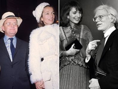 Lee Radziwill with friends Truman Capote and Andy Warhol