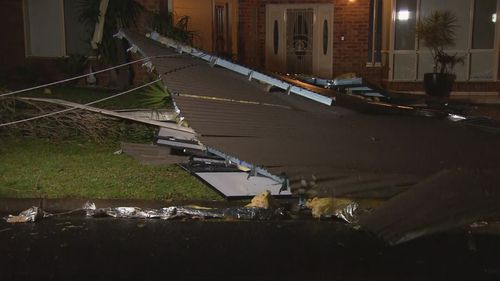 Damage included roofs being swept from houses and trees down.