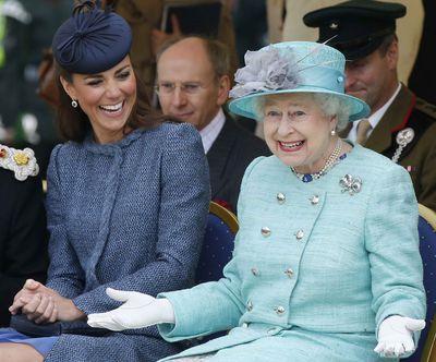Queen Elizabeth with the Duchess of Cambridge
