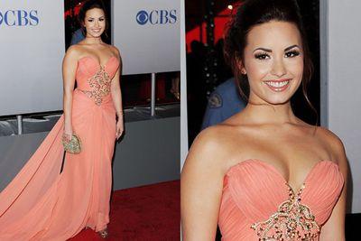 Demi Lovato's a Grecian Goddess.