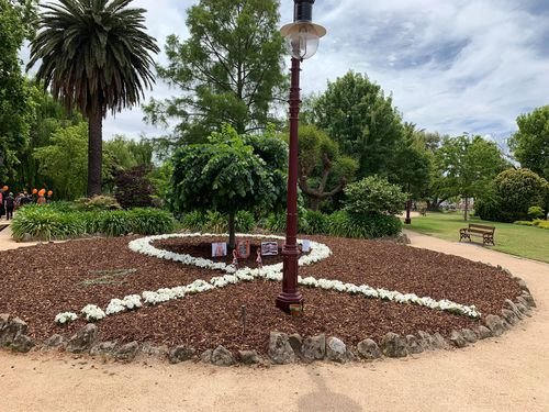 This is what the garden in support of White Ribbon looked like before it was vandalised.
