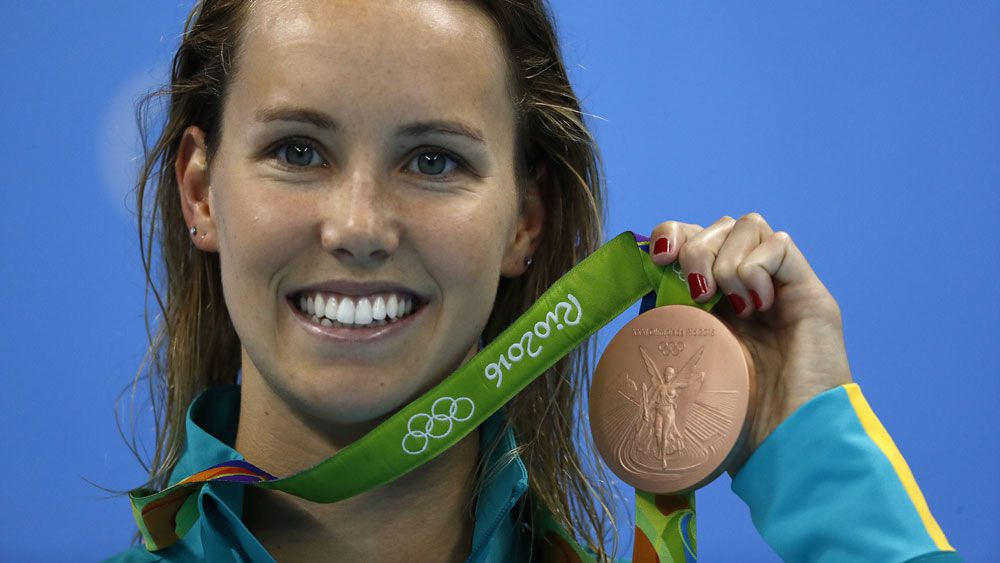 Emma McKeon has won the bronze medal in the 200m freestyle. (AFP)