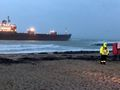 Russian cargo ship washed up on UK beach in 'horrific' conditions