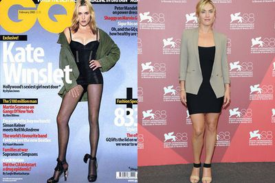 Kate Winslet grew freakishly long legs on the cover of <i>GQ</i> magazine in 2003.