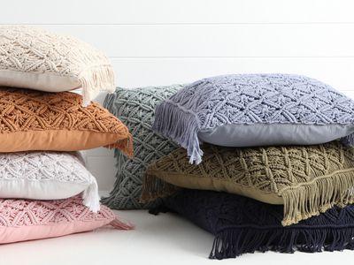 Pillow Talk — Macrame Square Cushion