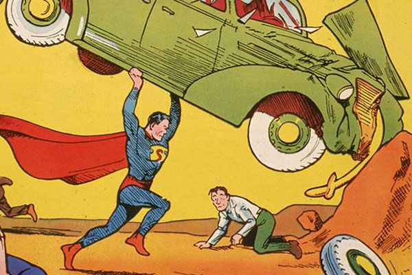 Action Comics No 1 features the first appearance of Superman.