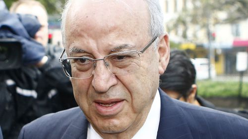 Eddie Obeid pictured outside court before he was sentenced in 2016.