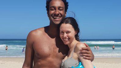 Matt Okine and Belinda Rabe