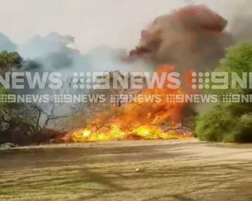 The fire took hold just after 4.30pm. (9NEWS)
