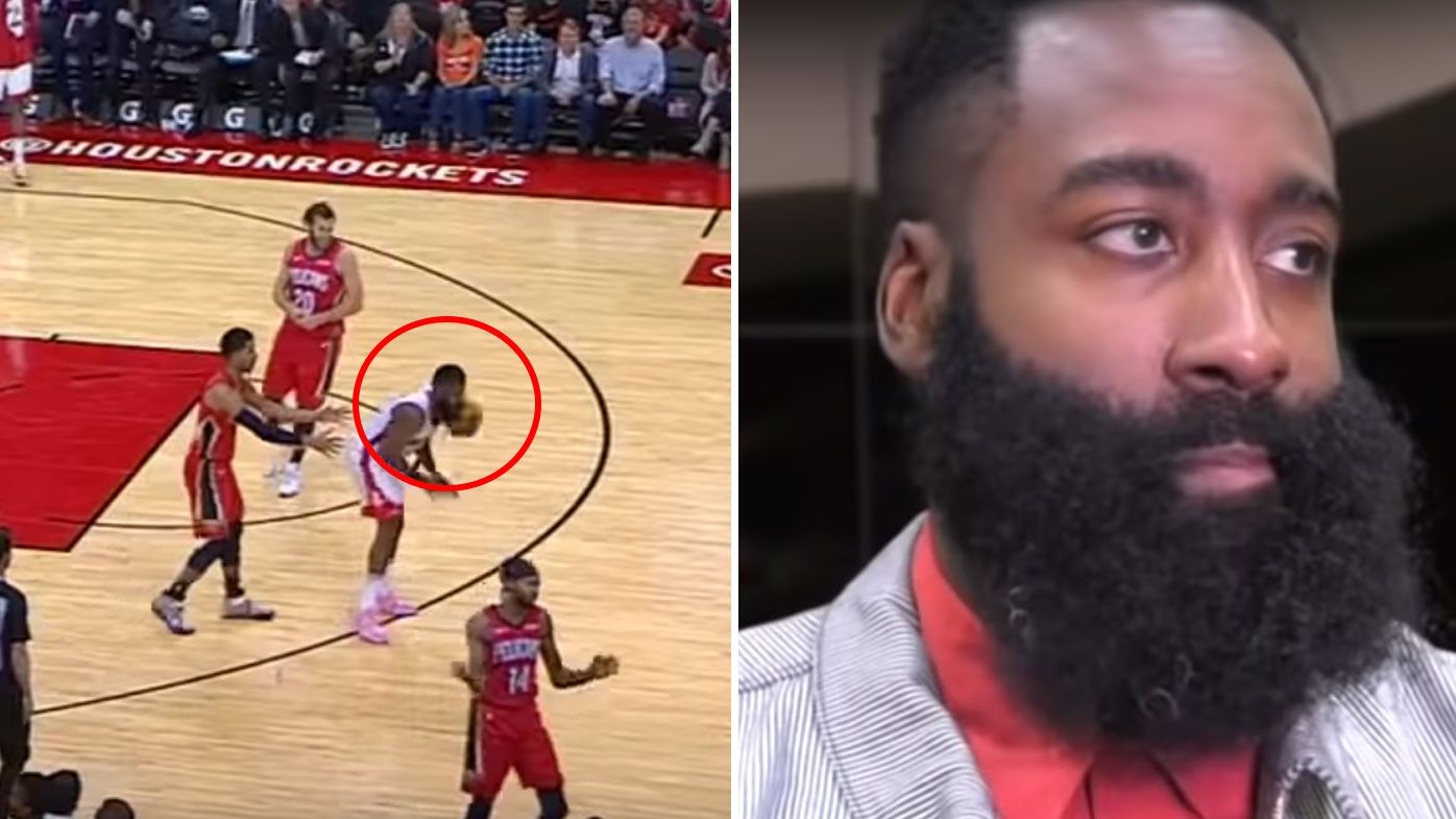 James Harden's hilarious response to on-court gaffe