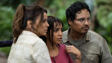 The live-action film also stars Eva Longoria and Michael Peña.