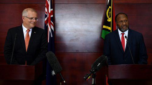 Scott Morrison Vanuatu politics talks