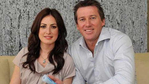 Glenn McGrath 'delighted' to become a father again with second wife