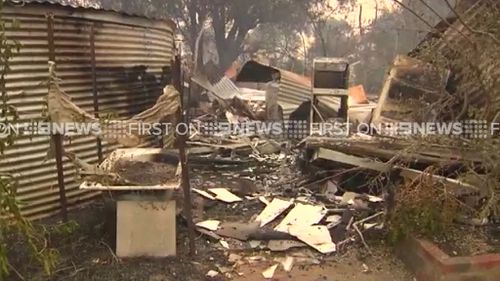 There are reports that dozens of homes have been destroyed. (9NEWS)