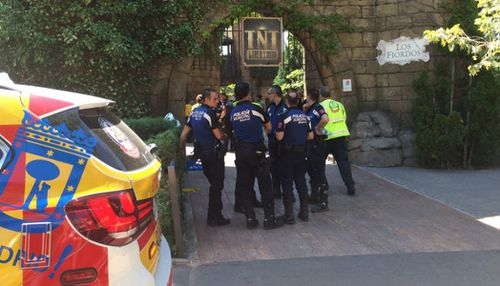 Police are investigating the cause of a collision on a rollercoaster that left 33 people injured. (EmergenciasMadrid)