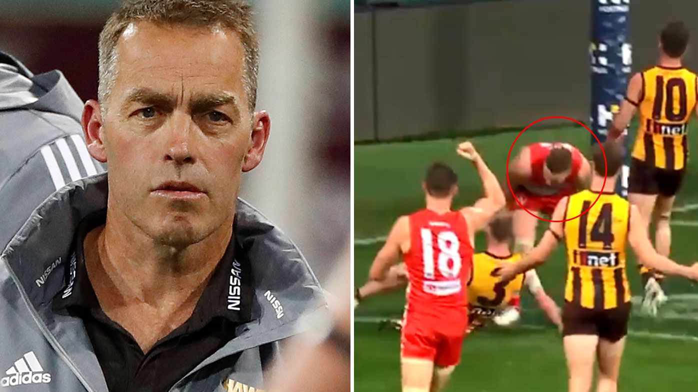 Alastair Clarkson questions umpiring after controversial Tom Papley double-goal in loss to Sydney