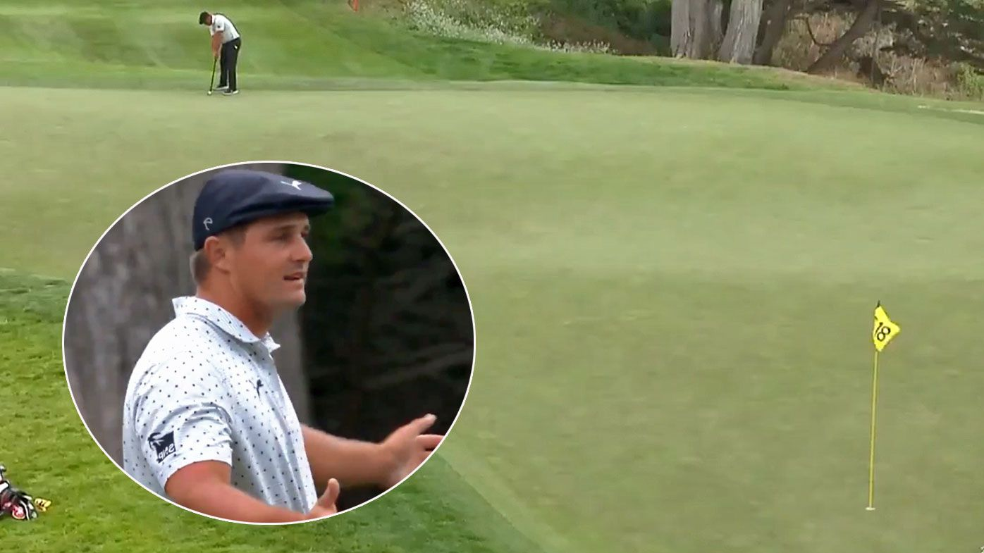 Bryson DeChambeau nails a 95-foot record-breaking putt at the US PGA Championship