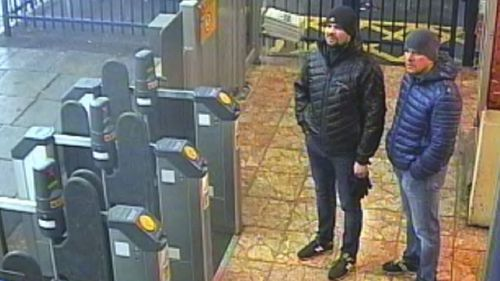 CCTV footage showed the two men in the area at the time of the attack.