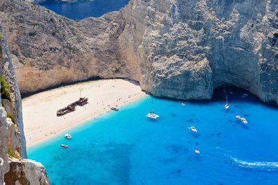 1. Shipwreck Beach in Zakynthos, Greece