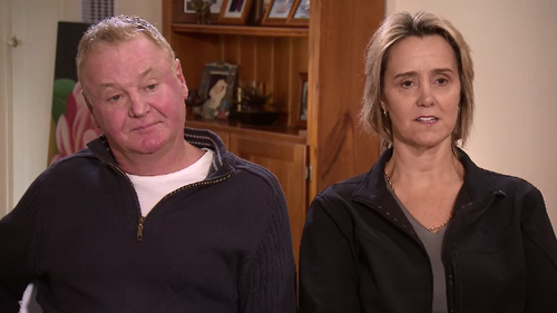 """Greg and Leigh-Anne Aton said dust and contaminated water had """"coated"""" their property."""