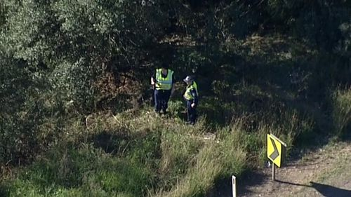 Police survey the scene. (9NEWS)