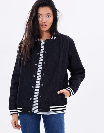 "<a href=""https://www.theiconic.com.au/distant-denim-bomber-445489.html"" target=""_blank"" title=""MinkPink Distant Denim Bomber, $38.99"">MinkPink Distant Denim Bomber, $38.99</a>"
