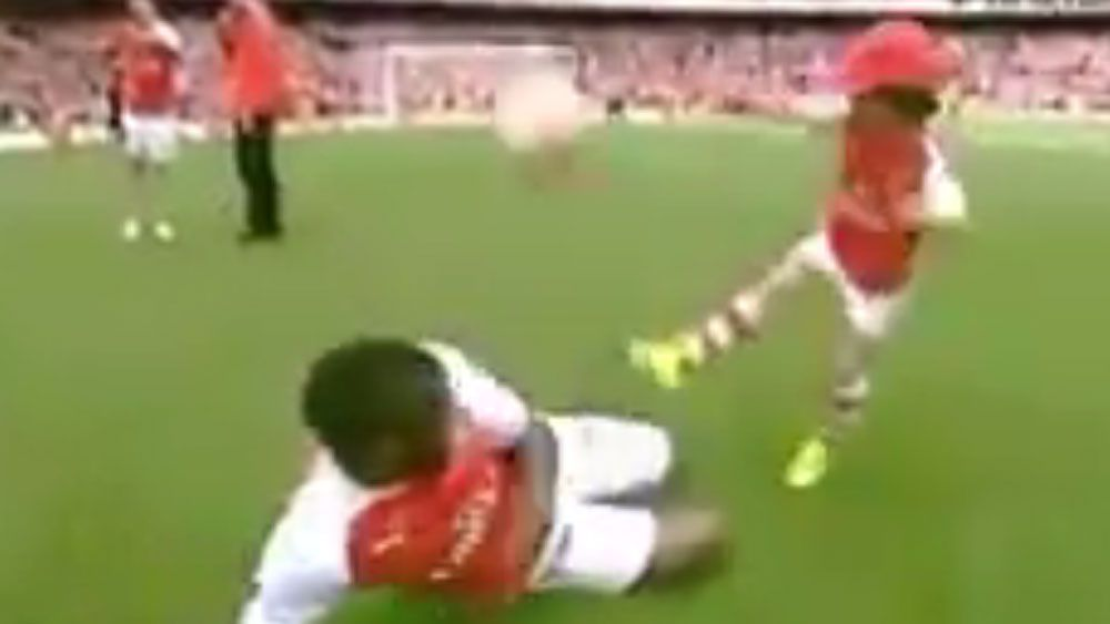 Arsenal star's son proves a prodigy