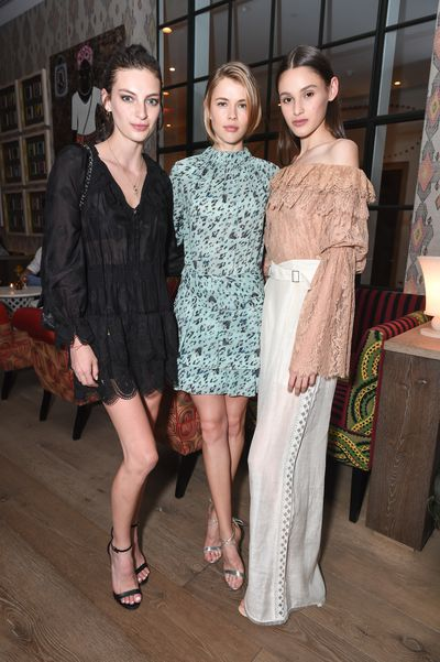 Rose Smith, Victoria Lee and Aleyna FitzGerald at the Australian Fashion Foundation 2017 summer party at The Whitby Hotel, New York.