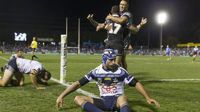 NRL: Cronulla Sharks keep top-four hopes alive as North Queensland Cowboys fall