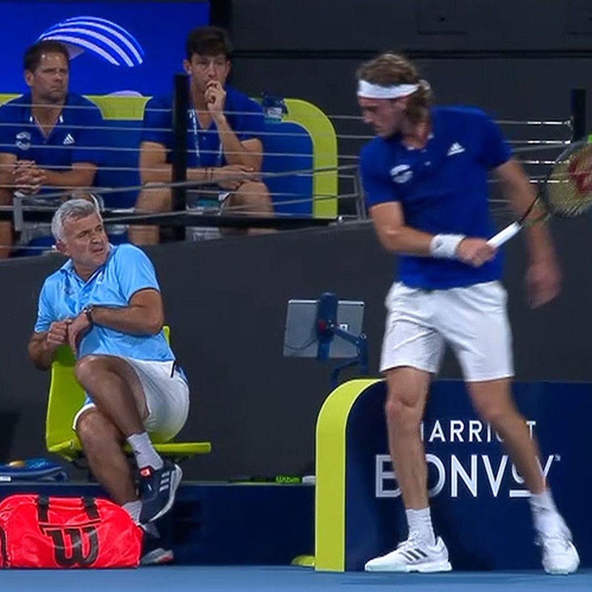 Tennis News Stefanos Tsitsipas Destroys Racquet In Match Nick Kyrgios