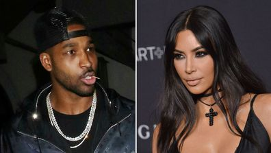 Tristan Thompson and Kim Kardashian