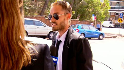 Daniel Johns outside court today. (9NEWS)