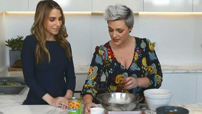 Today Extra's Britt Cohen and 9Honey's Jane de Graaff make dinner from a tin
