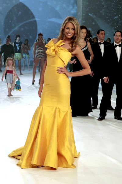 Jennifer Hawkins at the Myer Spring/Summer show in Sydney, August, 2006