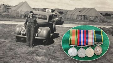 The war medals were stolen from Douglas Downs' home in 1969.