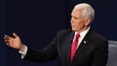 Vice President Mike Pence during the debate with Kamala Harris.