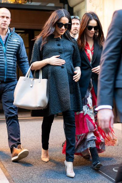 Meghan in New York City for her baby shower.