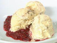 Date, pecan and pepita ice-cream