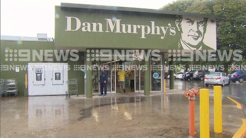 The altercation took place outside Dan Murphy's in Sunnybank. (9NEWS0