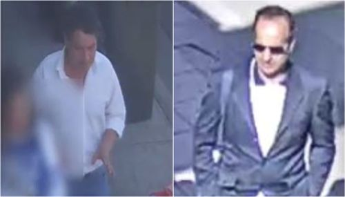 Victoria Police released two other CCTV images of the suspects. The man on the left is wanted over the October 5th assault, while the man on the right is wanted over September 17th attack.