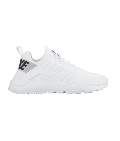 "<p><a href=""http://www.stylerunner.com/shop/product/819151-101/nike-air-huarache-run-ultra-white-black.html"" target=""_blank"">Nike</a>&nbsp;Air Huarache white sneakers, $200</p>"