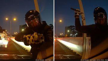190601 Sydney Blacktown road rage incident motorcyclist dash cam footage SPLIT