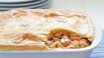 Chicken kumara pot pie