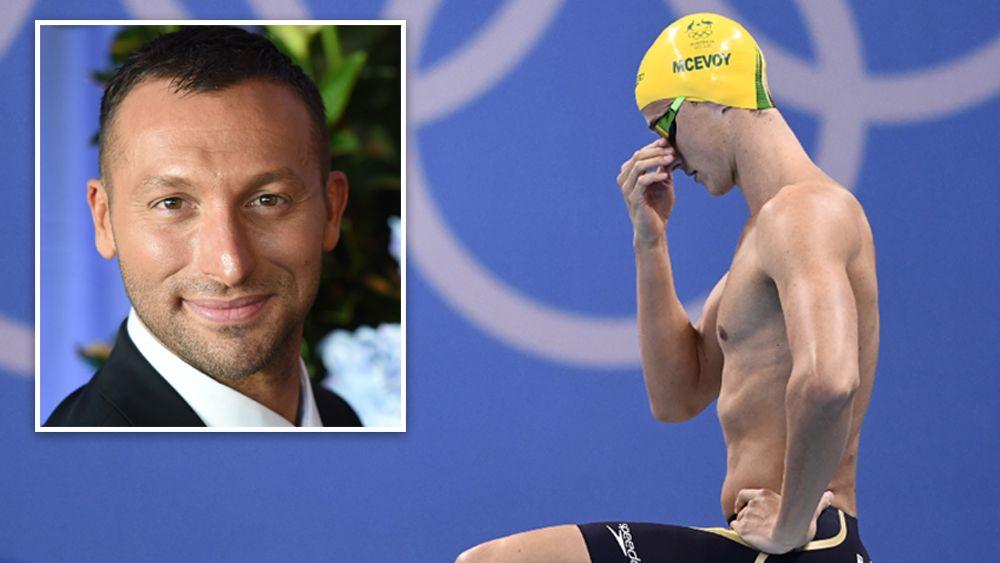 Ian Thorpe (inset, AAP) said Australian swimmers were under pressure. (AFP)