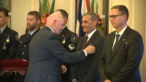 Craig Challen and Richard Harris received the Star of Courage - Australia's second highest civilian honour. Picture: 9NEWS
