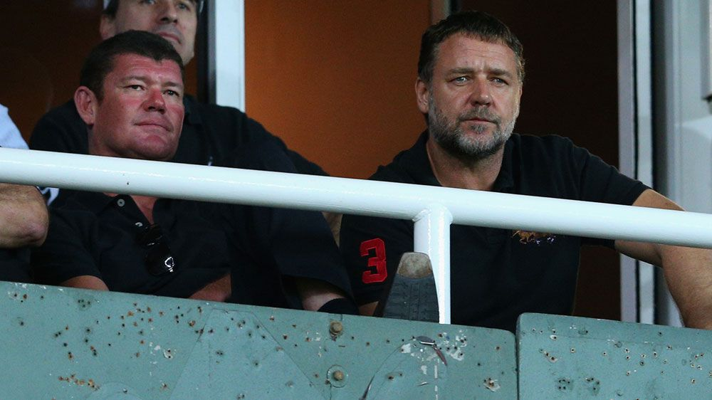 James Packer (L) and Russell Crowe. (Getty-file)